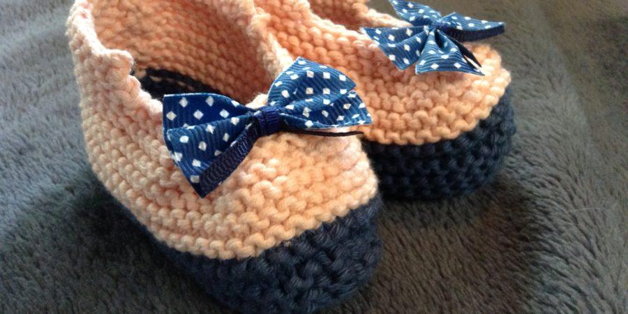 Ballerines tricotées