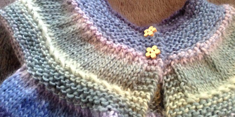 Robe tricotée topdown taille naissance